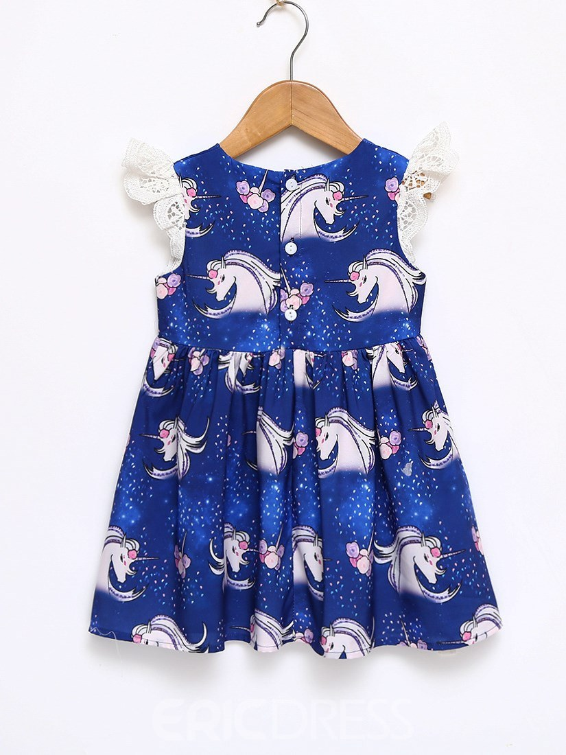 Ericdress My Little Pony Printed Baby Girl's A-Line Dress