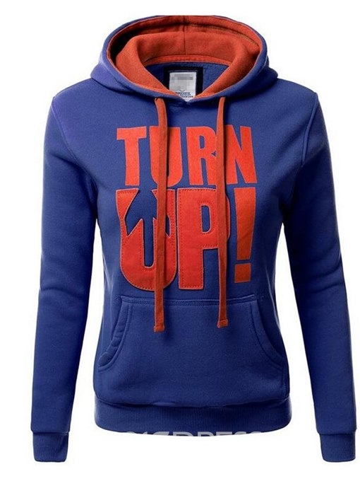 Ericdress Thick Letter Print Long Sleeve Cool Hoodie