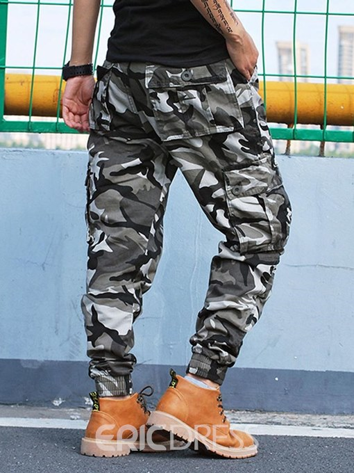 Ericdress Camouflage Loose Side Pocket Mens Casual Pants