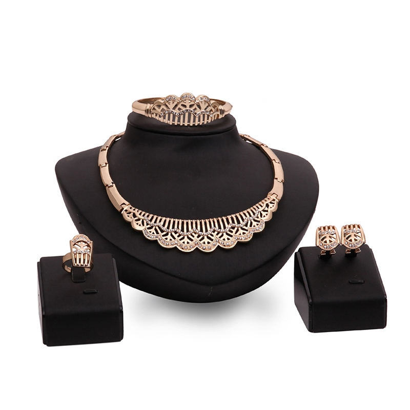 Ericdress Crown Diamante Jewelry Set
