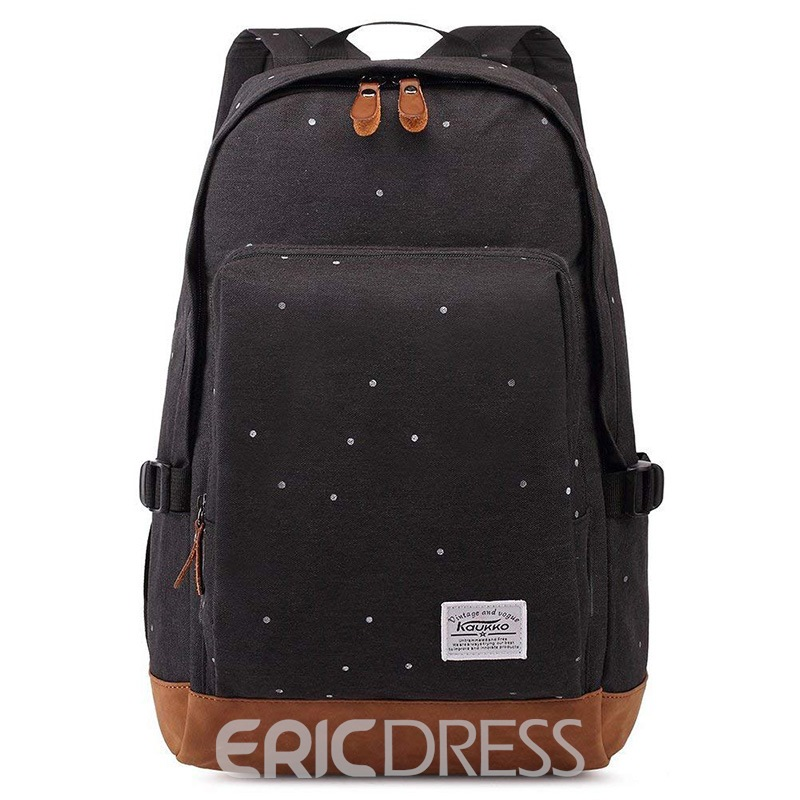 Ericdress Canvas Polka Dots Soft Backpack