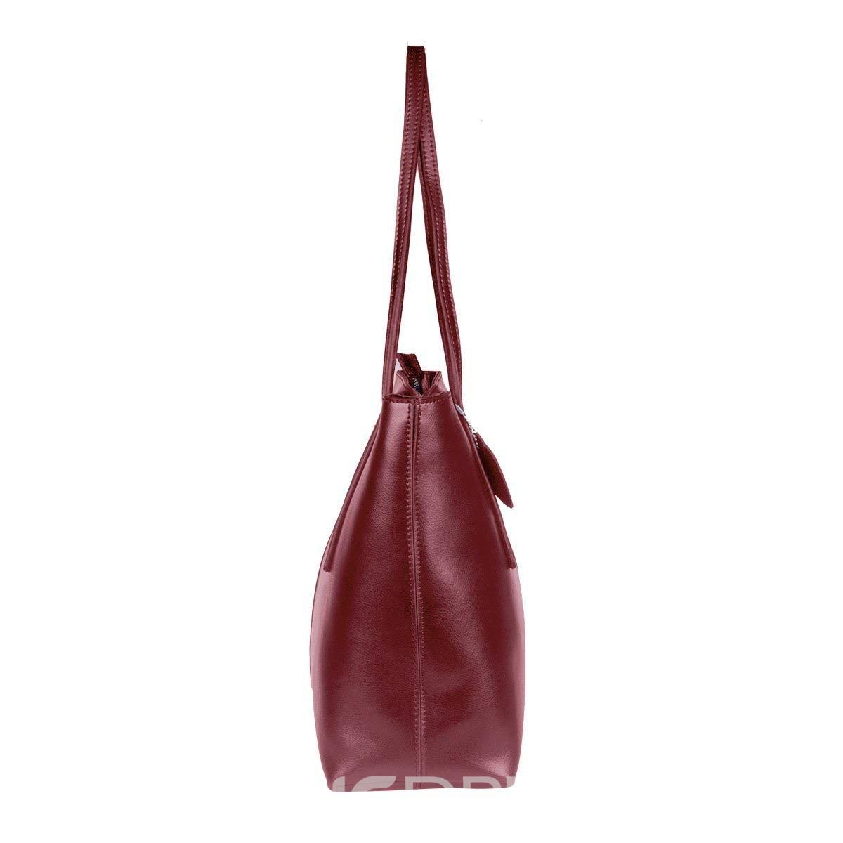 Ericdress Plain PU Soft Shoulder Bag