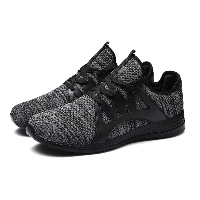Ericdress Plain Mesh Breathable Lace-Up Men's Sneakers