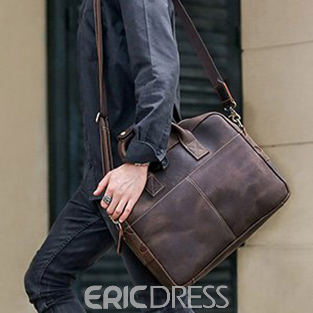 Ericdress Plain Genuine Leather Professional Bag