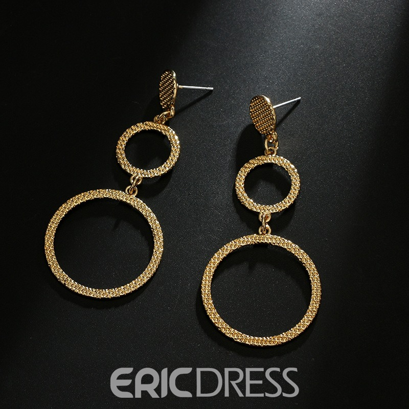 Ericdress Hollowed-out Circlet Drop Earrings