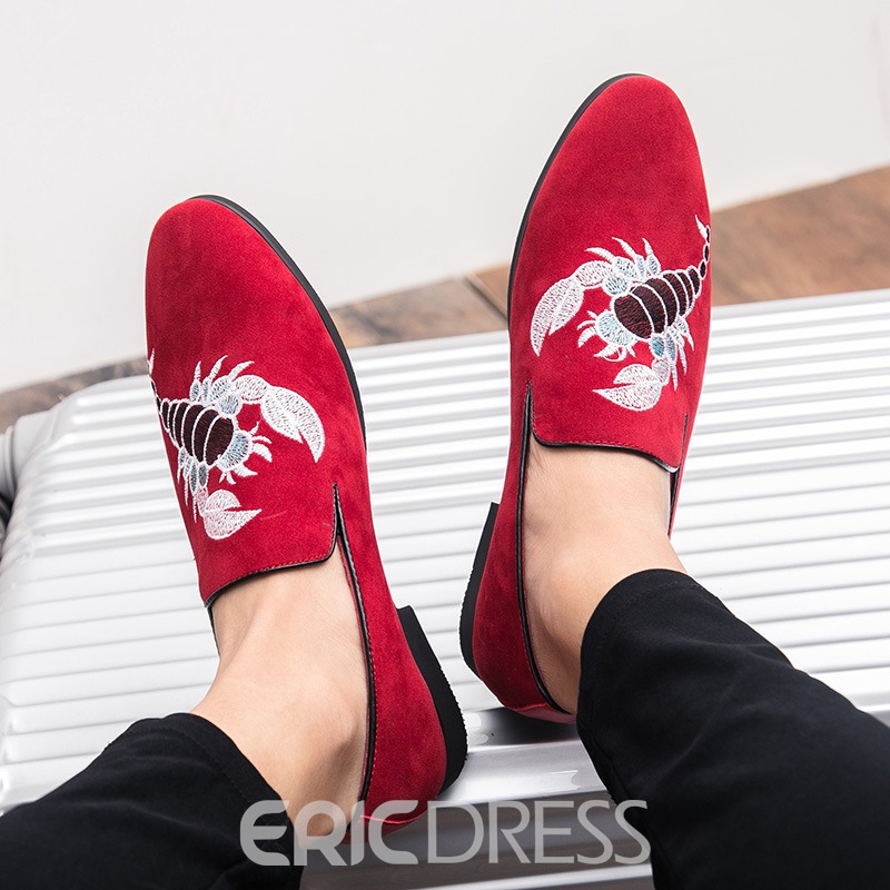 Ericdress Embroidery Animal Plain Slip-On Men's Loafers