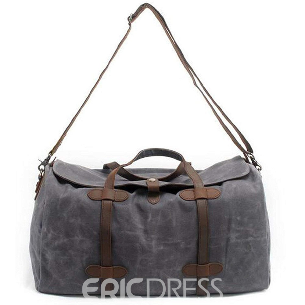 Ericdress Vintage Thick Leather Large Tote Bag