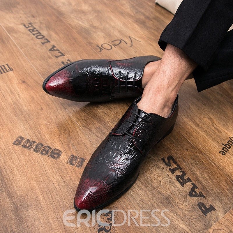 Ericdress Pointed Toe Lace-Up Professional Men's Oxfords