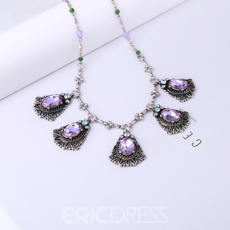 Ericdress Crystal Necklace For Women