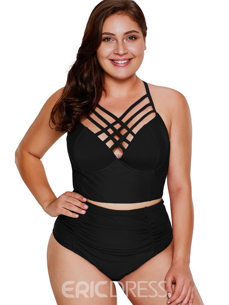 Ericdress Hollow Plain Sexy Tankinis