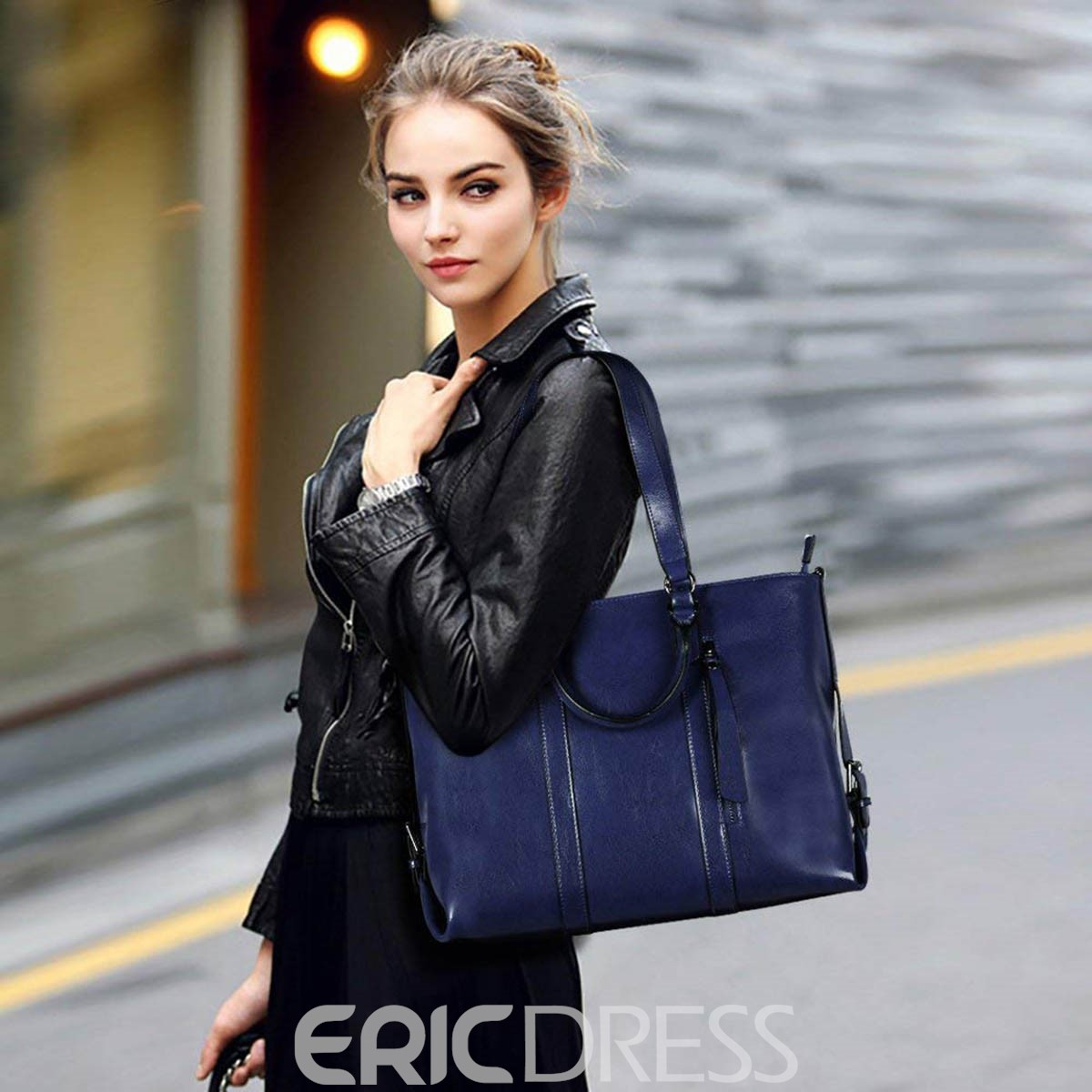Ericdress PU Belt Decorated Women Shoulder Bag