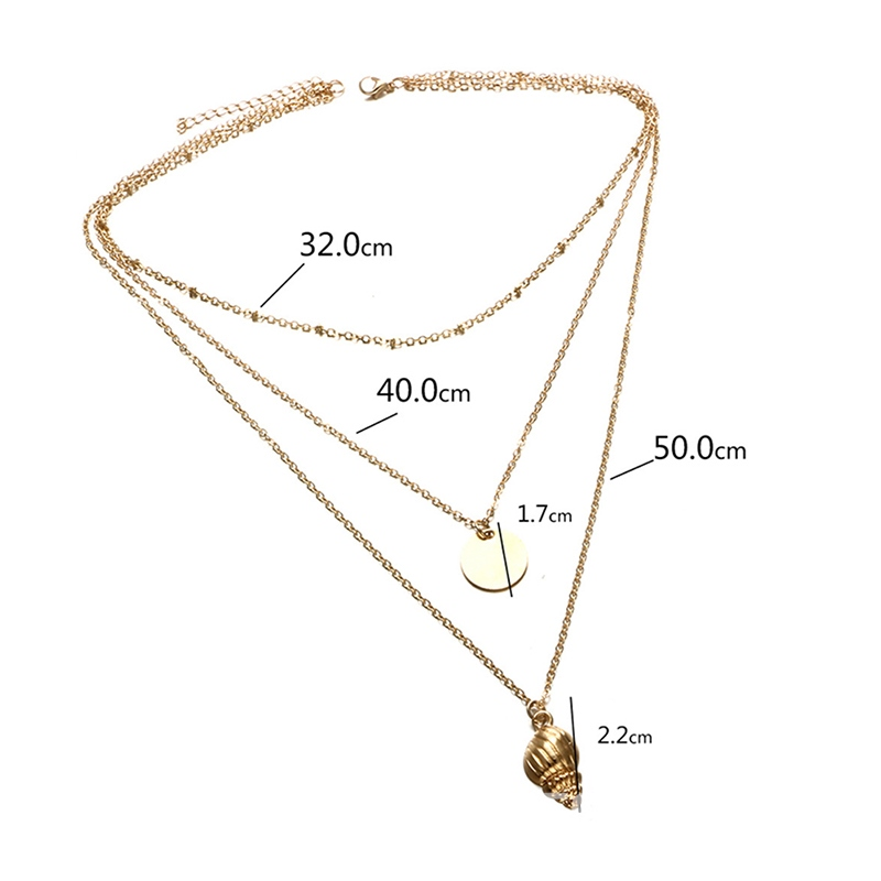 Ericdress Golden Conch Charm Gold Layered Necklace For Women