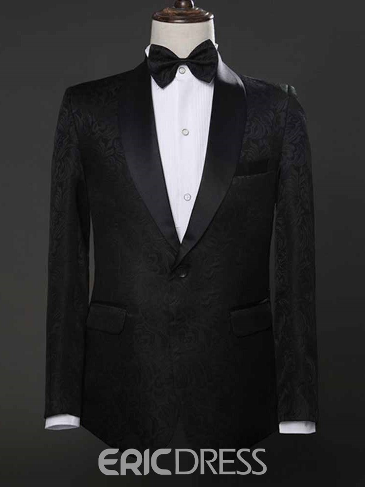 Ericdress Plain Shawl Collar One Button Mens Ball Wedding Suits