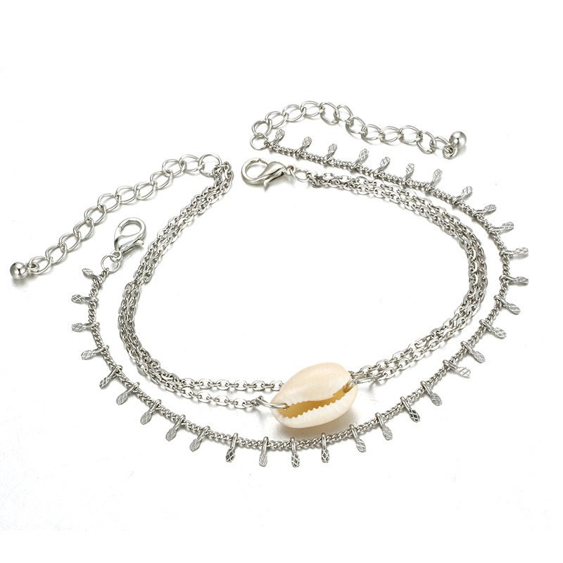 Ericdress Conch Silver Beach Anklet