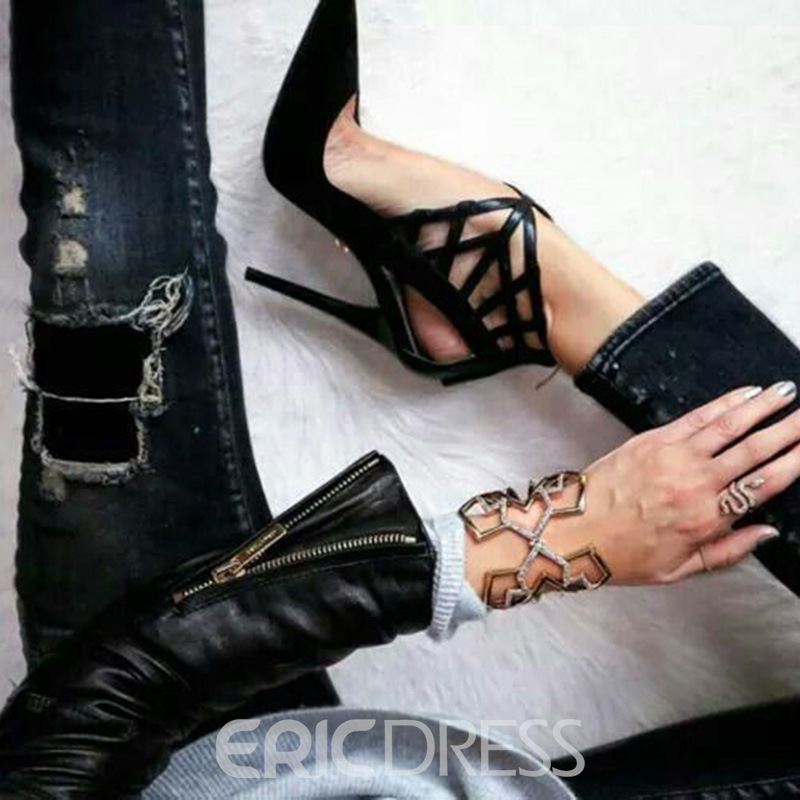 Ericdress Sexy Hollow Pointed Toe Stiletto Sandals