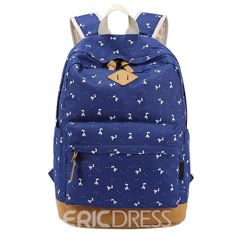 Ericdress Animal Canvas Belt Decorated Women Backpack