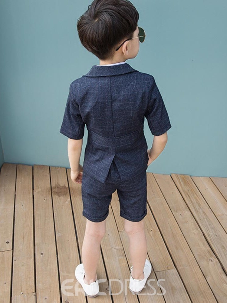 Ericdress Plain Shirts Coats Shorts Boy's Summer Suits
