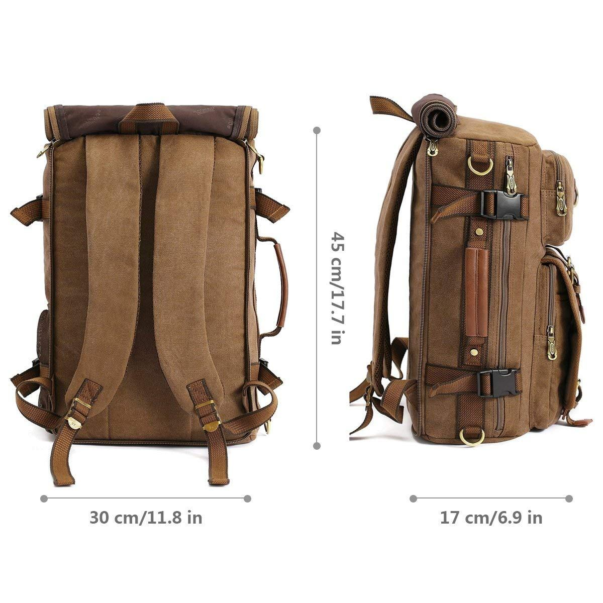 Ericdress Retro Canvas Leather Hiking Bag