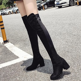 Ericdress Round Toe Chunky Heel Women's Knee High Boots