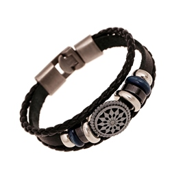Ericdress Leather Knit Alloy Men's Bracelets