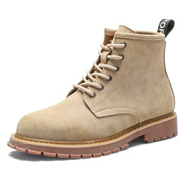 Ericdress Round Toe Lace-Up Men's Martin Boots