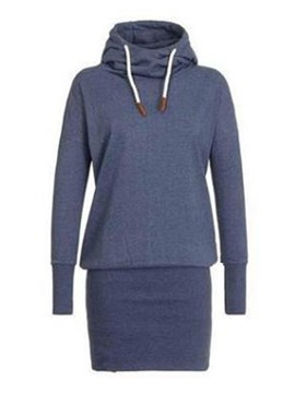 Ericdress Plain Lace-Up Casual Fall Long Sleeves Cool Hoodie
