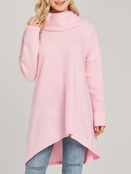 Ericdress Loose Casual Hooded Plain Mid-Length Cool Hoodie