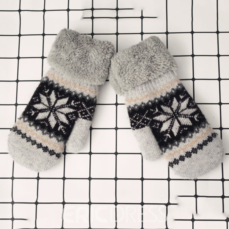 Ericdress Snow Winter Lover Gloves