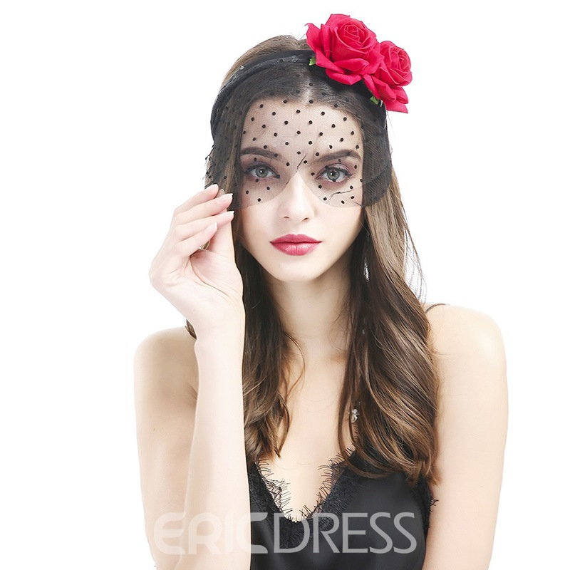 Ericdress Blace Dot Lace Mask Hair Accessories