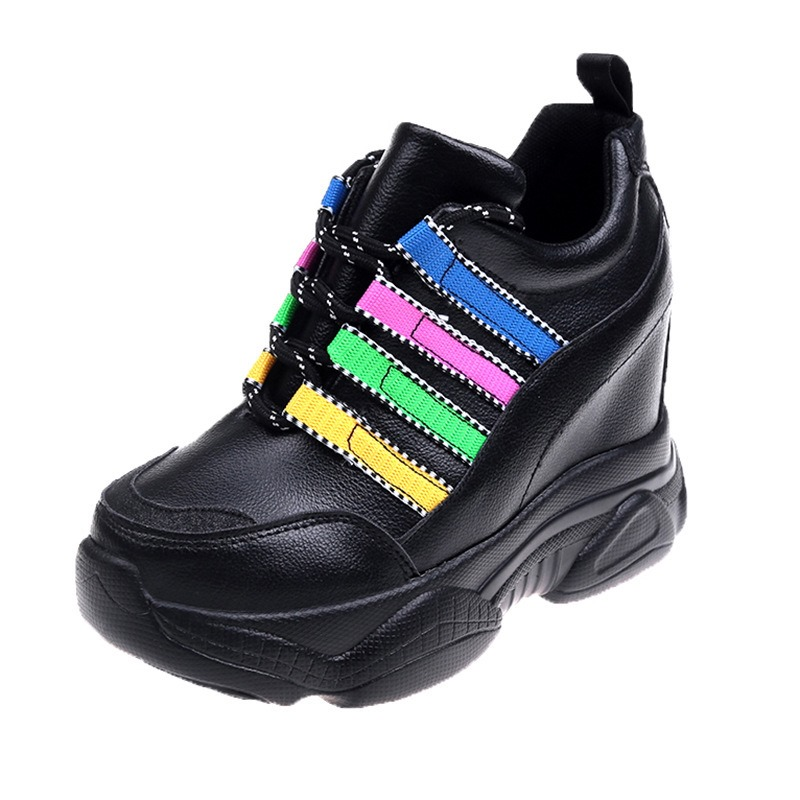 Ericdress Color Block Hidden Elevator Heel Women's Comfortable Sneakers