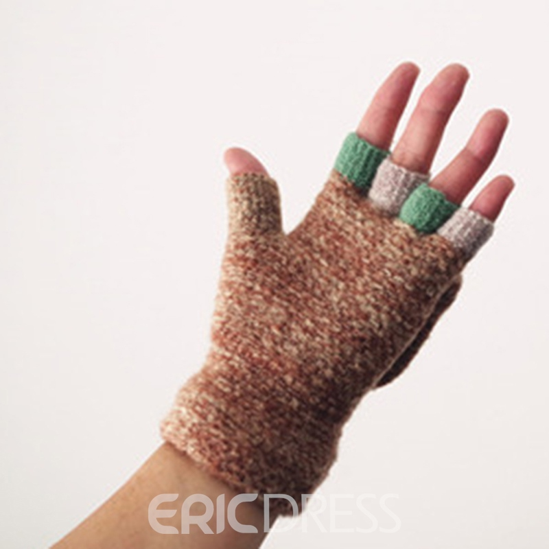 Ericdress Winter Warm Women Colorful Gloves