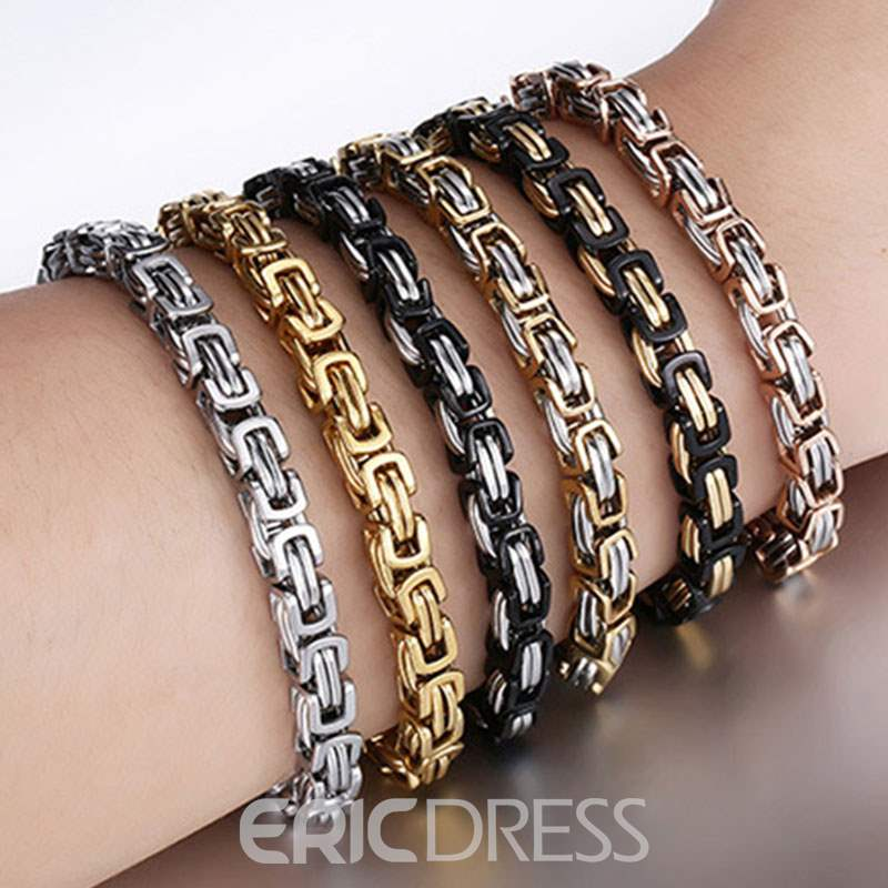 Ericdress Titanium Steel Alloy Men's Bracelets