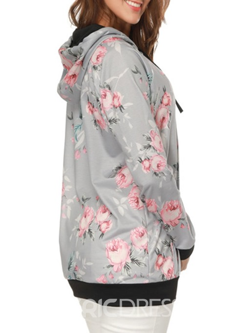 Ericdress Print Loose Mid-Length Casual Cool Hoodie
