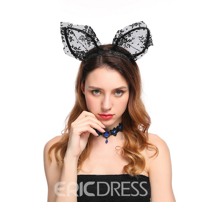 Ericdress Lace Stitchwork Bunny Ears Hair Accessories