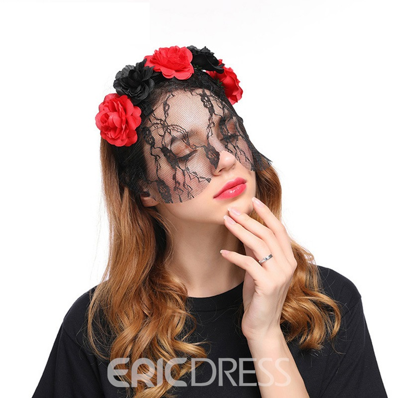 Ericdress Halloween Lace Flowers Hair Accessories