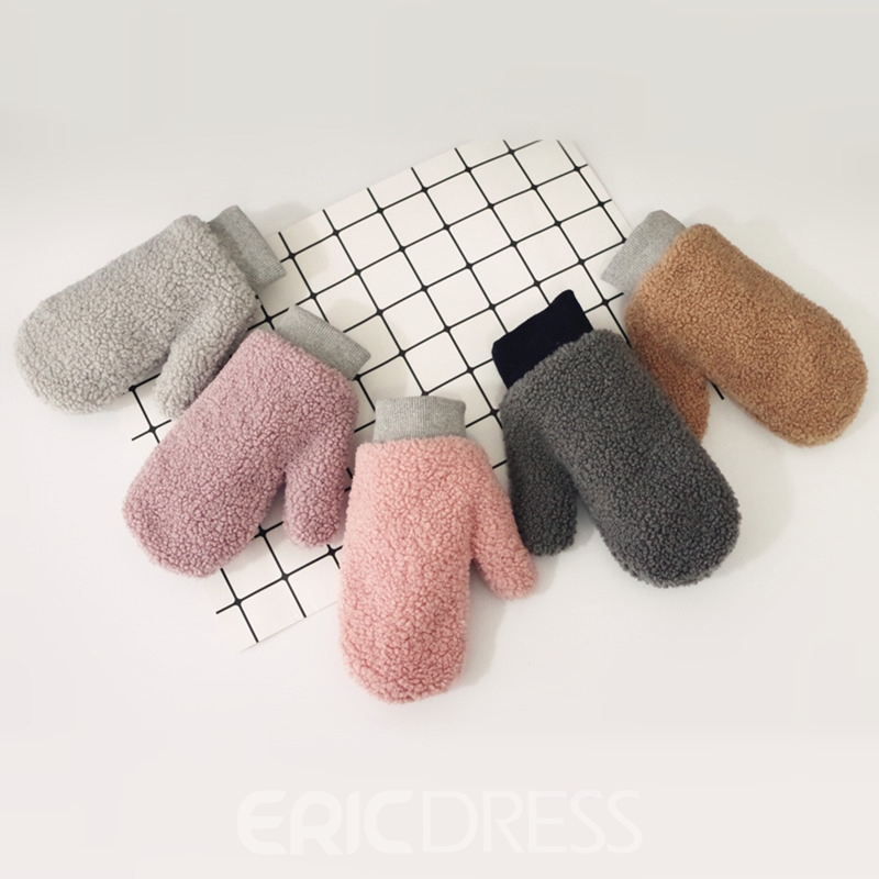 Ericdress Pure Color Cutie Fluffy Women's Gloves