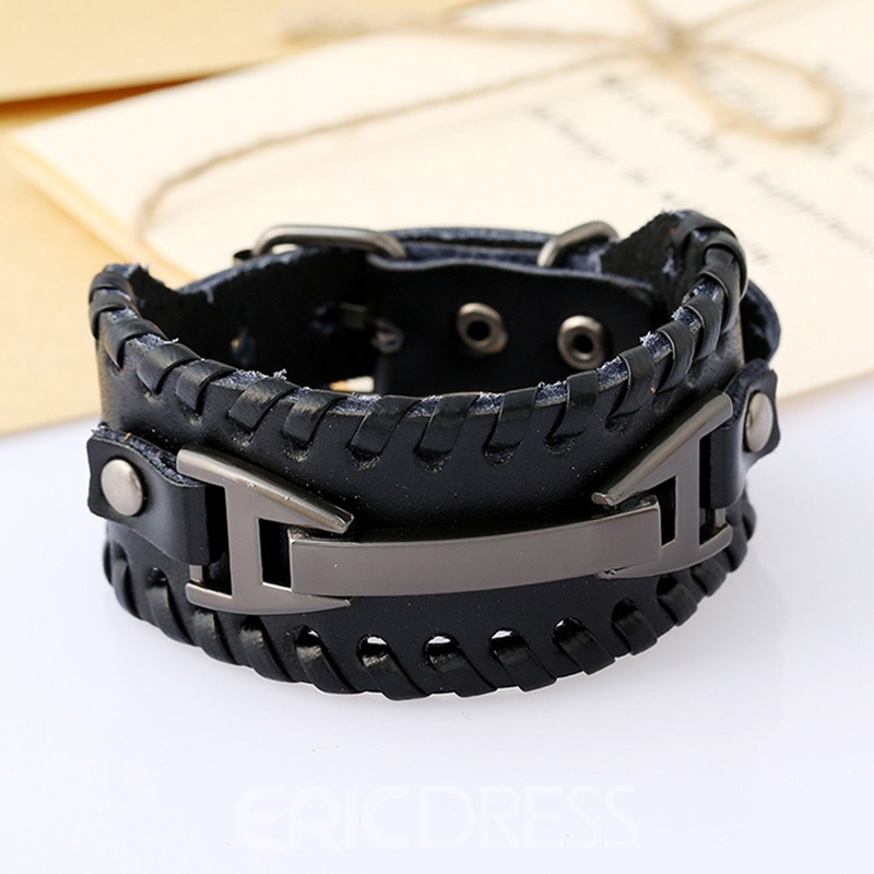 Ericdress Leather Knit Men's Bracelets