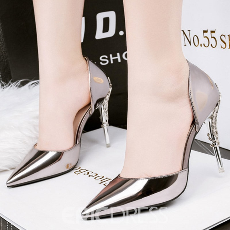 Ericdress PU Sequin Pointed Toe Stiletto Heel Pumps