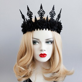 Ericdress Halloween Cos Black Rose Crown