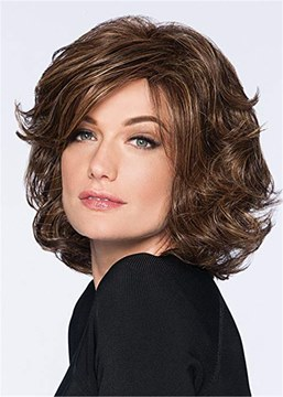 Ericdress Short Bob Cut Wavy Synthetic Hair Capless Wig