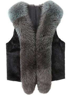 Ericdress I Type Short Faux Fur Neutral Coat