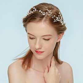 Ericdress Wedding Pearl Flowers Hair Accessories