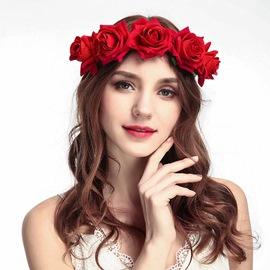 Ericdress Flowers Rose Hair Accessories