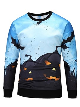Ericdress Halloween Cartoon Printed Pullover Mens Casual Sweatshirts
