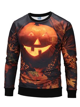 Ericdress Halloween Printed Scoop Mens Casual Sweatshirts