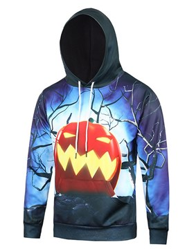 Ericdress Hooded 3D Printed Pullover Mens Halloween Hoodies