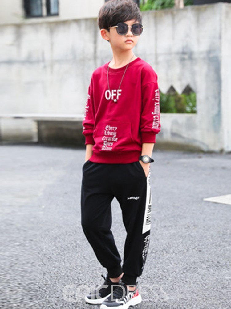 Ericdress Pullover Letter Casual Boys Outfits