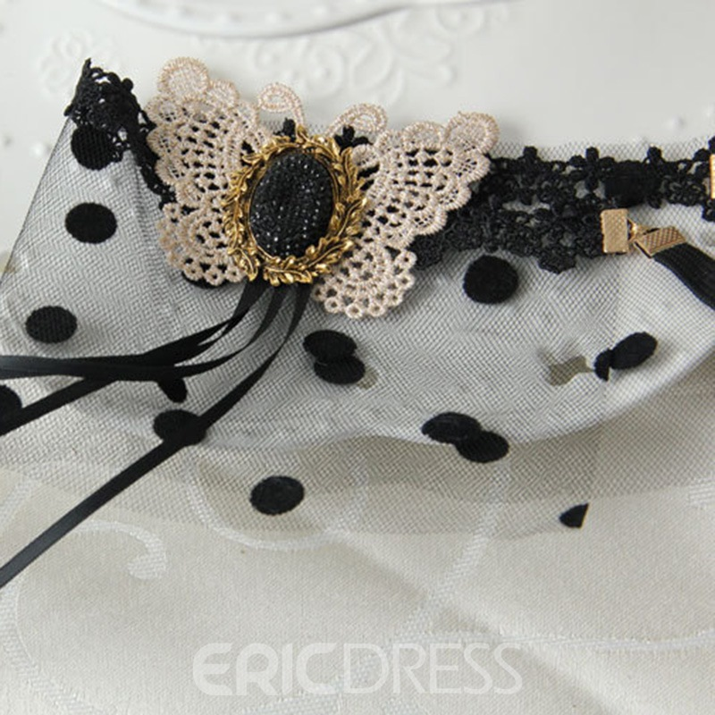 Ericdress Halloween Lace Dot Butterfly Hair Accessories