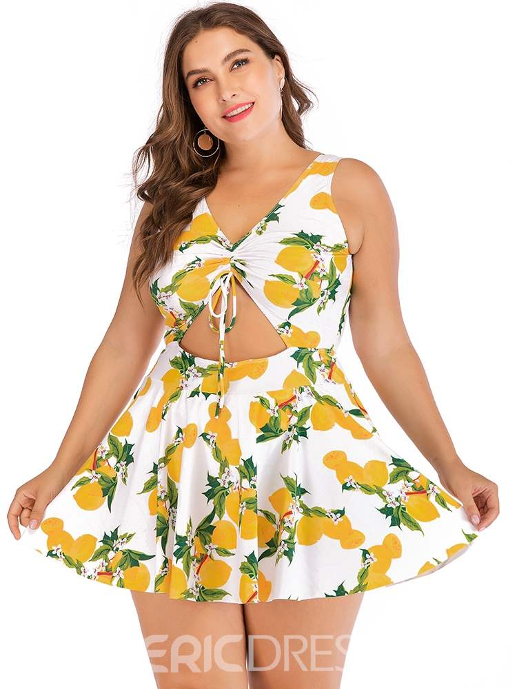 Ericdress Sexy Hollow Floral Swimwear