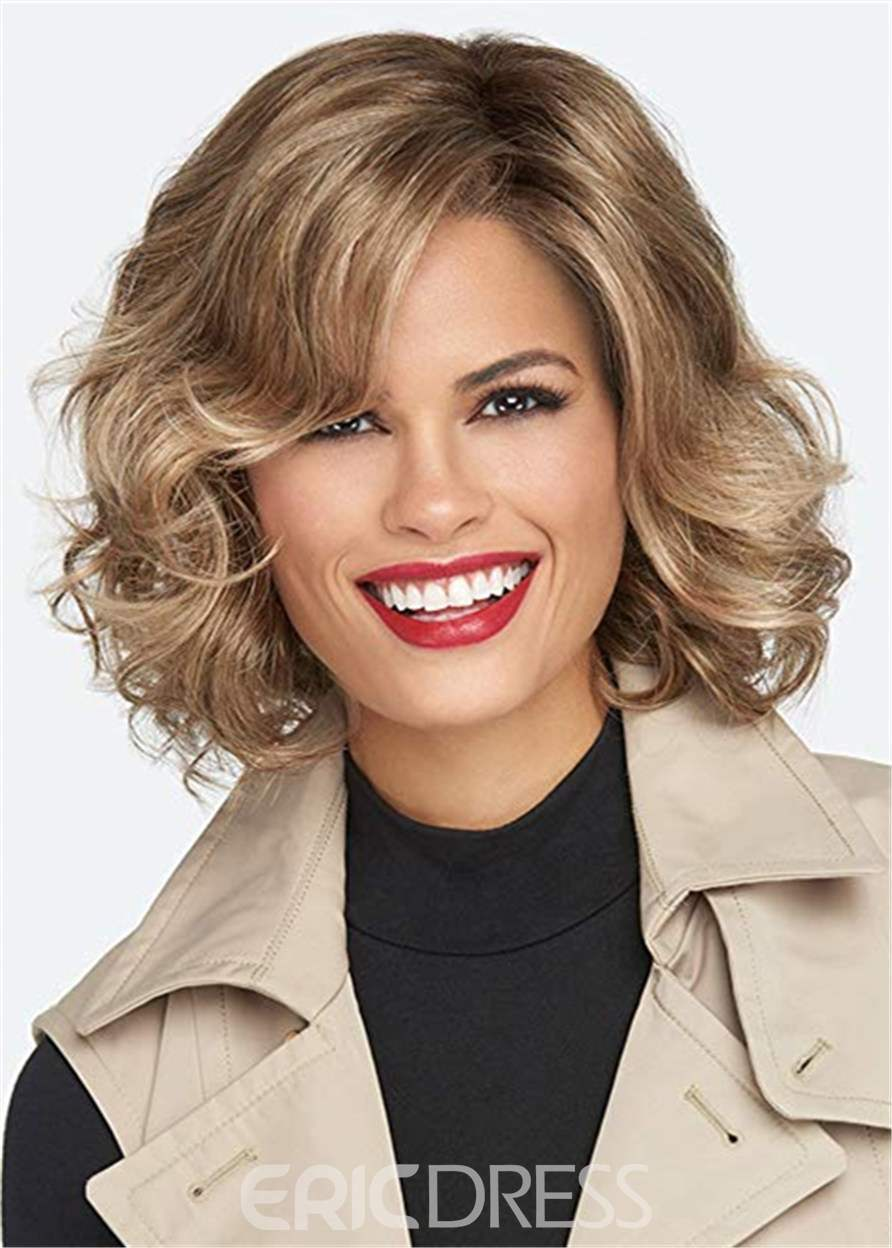 Ericdress Short Bob Cut Wavy Synthetic Hair Lace Front Wig